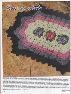 Edivana Croche: bel tappeto con i fiori centrali