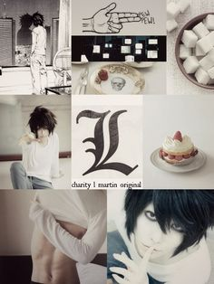 "introvertedwriting231: "" L Lawliet Mood Board ""I have been one of the greatest detectives of all time. I solved the toughest cases with three different aliases. I was once orphaned and I was able to..."