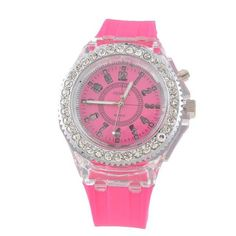 Luminous Glowing LED Quartz Sport Watches Do you love to look sharp and attracti Sport Watches, Cool Watches, Wrist Watches, Women's Watches, Led Watch, The Dark Crystal, Quartz Watch, Bracelet Watch, Glow