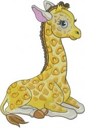 Baby Giraffe embroidery design from embroiderydesigns.com