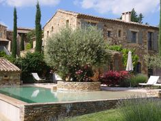 And outdoor swimming pools, gardens and pools, le mas de foussargues.