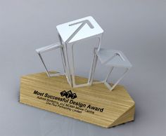 a design award trophy - Google Search