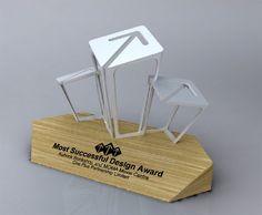 a design award trophy - Google Search