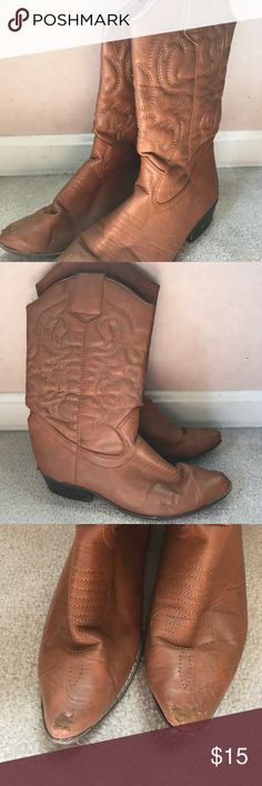 Cowgirl boots Cowgirl boot, worn but at a great price Francesca's Collections Shoes Combat & Moto Boots