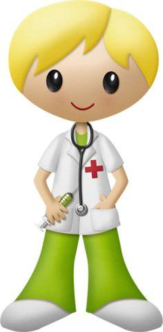 Blond haired nurse
