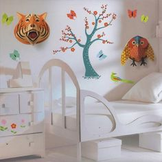 My Owl Barn: Djeco Pop Up Wall Art, LOVE THIS ROOM!