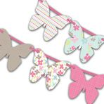 Butterfly Themed Birthday Bunting Template #kids #party #ideas