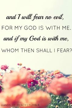 And I will fear no evil, for God is with me. And if my God is with me, whom then shall I fear? Bible Quotes, Me Quotes, Song Qoutes, Jesus Quotes, Quotable Quotes, Faith Quotes, My Champion, Walk By Faith, God Is Good