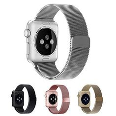 Apple Watch Band, EH HE Fully Magnetic Closure Milanese Clasp Mesh Loop Metal Bracelet Strap Bands for Apple Watch & Sport & Edition Apple Watch Serie 1, Apple Watch Iphone, Apple Watch 42mm, Apple Watch Bands, Nylons, Cell Phone Accessories, Women's Accessories, Porto Rico, Luxury Sunglasses