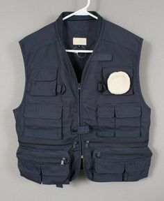 NEW FLYSHACKER MENS NAVY BLUE FLY FISHING UTILITY VEST MEDIUM M LOTS OF POCKETS