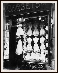 """Photograph Wall Decor """"Vintage Paris Corset Shop 1912"""" 8 x 10 Photo Print Unframed"""