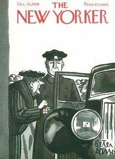 New Yorker 1958- Más portadas en www.adviento.org Adviento, Portadas navideñas y deseos de paz