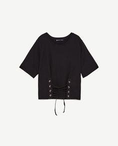 Image 6 of T-SHIRT WITH FRONT CORSET from Zara