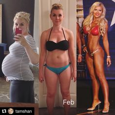 Big congrats to this girl for what she's accomplished!! Talk about a true transformation on all aspects. She's is motivation for all of y'all that need that push when ya need it! Way to go girl!! So proud of you!  #Repost @tamshan  The first pic is almost a year to the day! Middle pic was a few weeks after the birth of my 3rd... I really hesitated to share this #transformation but was encouraged to do it because it's real life! You would think by now I wouldn't feel so timid and vulnerable…