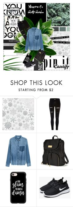 """""""CASETIFY"""" by softyl ❤ liked on Polyvore featuring Lori's Shoes, Kaisercraft, Chanel, River Island, H&M, Victoria's Secret, Casetify and NIKE"""