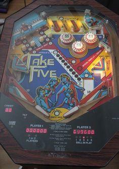 Allied Take Five Cocktail Pinball Arcade Table  #Allied #takefive #pinball #cocktailpinball #arcade #cocktailtable #game #vintage #gameroom #dandeepop Find me at dandeepop.com