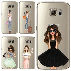 Phone Case for Samsung Galaxy S5 S6 S6Edge S6Edge+ S7 S7edge Cover Soft Silicon Fashion Sexy Modern Lady Girl Mobile Phone Bag