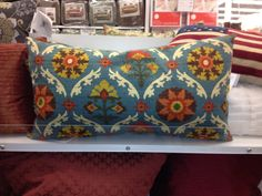 Bold patterned pillow @ bed bath and beyond