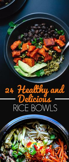 24 Healthy & Delicious Rice Bowls // Better Than Chipotle #energy