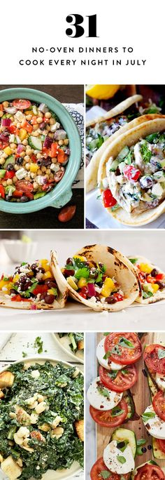 31 No-Oven Dinners to Cook Every Night in July  via @PureWow