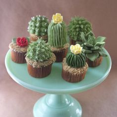 Cactus Cupcakes Make Us Want To Move To The Desert