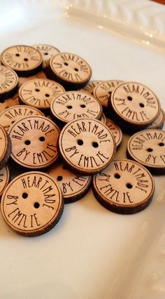 Custom button design personalized wood button by Sweetpinehills