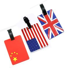 Bag Parts Accessories National flag Luggage Tag Silicone Portable Suitcase Bag Tag Mixproof Travel tag