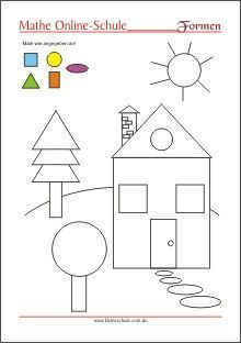 Learning the shapes - circle, rectangle, square, triangle - preschool Shapes Worksheets, Kids Math Worksheets, Learning Activities, Preschool Activities, Kindergarten Portfolio, Kindergarten Math, Toddler Learning, Toddler Preschool, Math For Kids