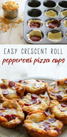 These easy crescent roll Pepperoni Pizza Cups are a great snack recipe that you can make in less than 30 minutes with just 4 ingredients. via This Cook That (pizza bites crescent roll) Pizza Cups, Pizza Bites, Pizza Pizza, Appetizer Recipes, Snack Recipes, Cooking Recipes, Pizza Recipes, Appetizers Kids, Kid Recipes