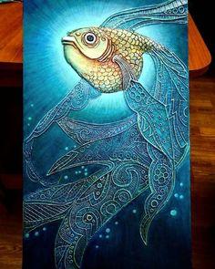 Барельеф в деталях.Учимся Создавать БАРЕЛЬЕФ Texture Painting On Canvas, Fabric Painting, Hot Glue Art, Fish Art, Home And Deco, Mural Art, Texture Art, Mandala Art, Flower Art