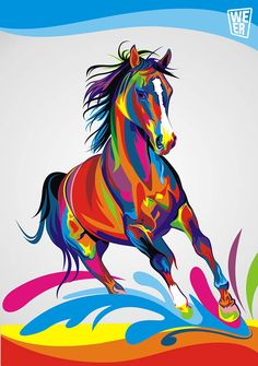 Home Office Decoration Living Room Art Wall Decor HD Prints Animal Color Horse Oil Painting Pictures Printed On Canvas Source by giadaraicovi. Animal Paintings, Animal Drawings, Art Drawings, Oil Painting Pictures, Pictures To Paint, Abstract Pictures, Arte Pop, Horse Oil Painting, Diy Painting