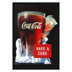 Coca-Cola - Have A Coke Framed Wall Art - 25.41W x 37.41H in. - DSW169873