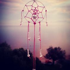 handmade dreamcatcher,pink with chrystals,dreamy,made with love.Instagram : xrikonstantopoulou  Email : xrikonstantopoulou@hotmail.gr