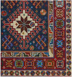 Cross Stitch Designs, Cross Stitch Patterns, Cross Stitching, Cross Stitch Embroidery, Palestinian Embroidery, Latch Hook Rugs, Chart Design, Miniature Crafts, Patterned Carpet