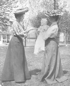 1903 fashion | Link to Image Titled: Mrs. Walter Innes and Friend