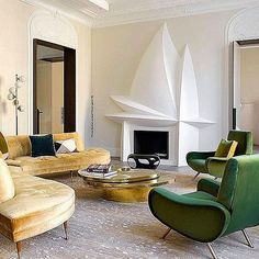 A Short Room Guide For Contemporary Interior Design living room Top Interior Designers, Luxury Interior, Luxury Furniture, Interior Architecture, Furniture Design, Vintage Sofa, Interiors Magazine, Living Spaces, Living Room