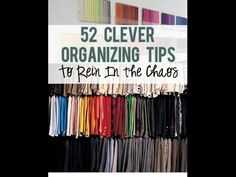 52 Organizing Tips To Declutter Your Home 1. Instead of stuffing your plastic bags into some sort of receptable, fold them into tiny neat triangles. 2. Use s...