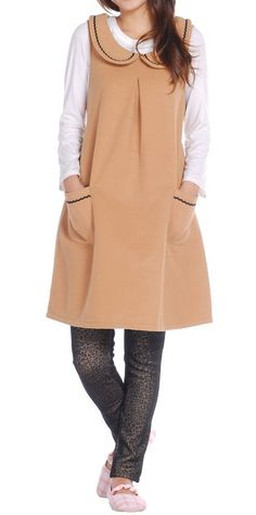 Women loose fit over plus size pocket dress wool pregnant fashion chic  maternity  Unbranded   1bbde33b79001