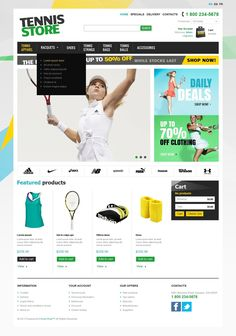 9+ Tennis Apparel and Equipment Ecommerce Website Templates (Tennis PrestaShop Themes) - Racquets And Tennis Stuff