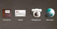 Retro icons, free PSD   #ui
