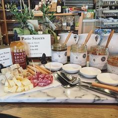 #friyay at @luxury_farms  Come try our fabulous cheese slicers and serving trays for your next party! We even have the cheese, salami and sauces to go with! #LXF #foodie #foodlover #spicyhoney #shoplocal #LuxuryFarms™ #sharesavorremember™ #fromourporchtoyours™
