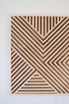 wood wall art diy how to make ; Wood Wall Decor, Modern Wall Decor, Wood Wall Art, Wood Wall Design, Art Diy, Diy Wall Art, Decoration, Art Decor, Reclaimed Wood Art