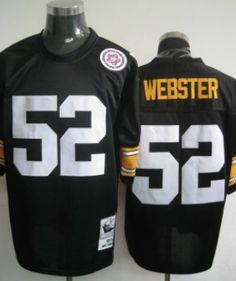 Pittsburgh Steelers #52 Webster Black Throwback Jersey