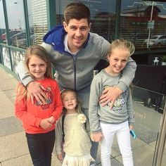 Stevie G with his daughters. Gerrard Liverpool, Liverpool Fc, Stevie G, Liverpool Legends, Captain Fantastic, Steven Gerrard, Couple Photos, Daughters, Girls