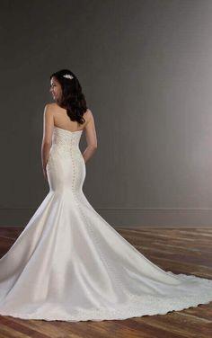 853 Structured Trumpet Wedding Dress by Martina Liana