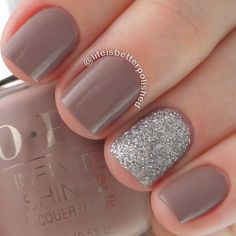 Staying Neutral with Sparkle #nailart