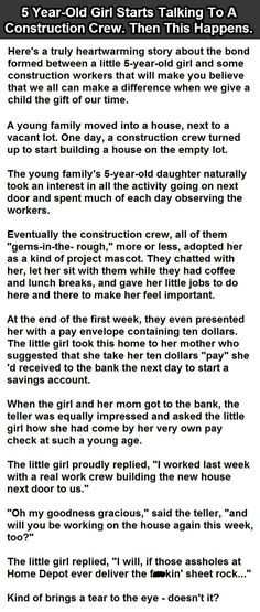 5 Year Old Starts Talking To A Construction Crew Then This Happens funny jokes story lol funny quote funny quotes funny sayings joke humor stories funny kids funny jokes