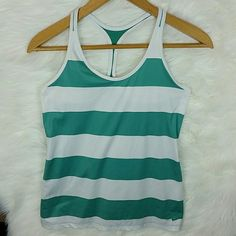 NIKE Dri-Fit Top ~Green & white  ~Mesh back ~Racerback  ~Excellent condition Nike Tops