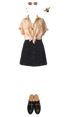 """""""nika"""" by julietteisinthe80s on Polyvore featuring Topshop, Gucci and Rosie Assoulin"""