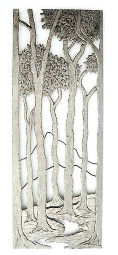 Walk in the Woods: Bernard Collin: Metal Wall Art - Artful Home